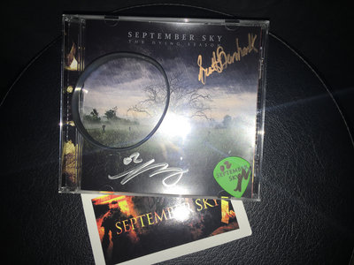 The Dying Season Autographed Bundle. Signed CD, Pick, Sticker and Wristband main photo