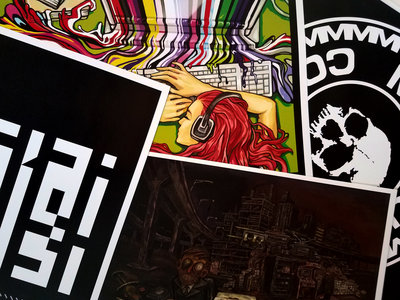 Set Of Four Radiograffiti Promotional Posters 13x19 - Limited main photo