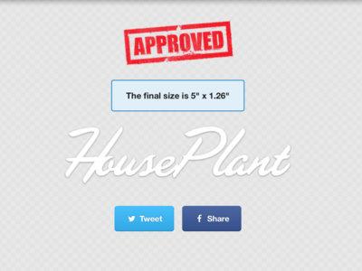 HousePlant - - - Logo Sticker (White) main photo