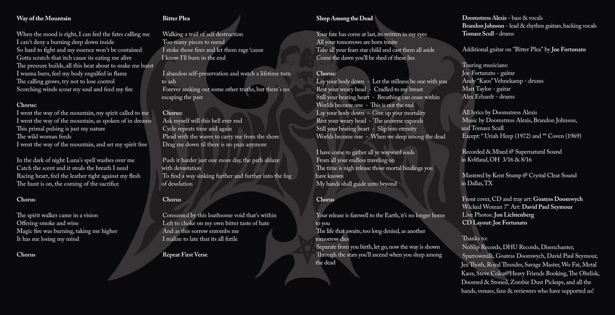 Lyric crystal mountain lyrics : Supernatural Kvlt Sounds - The Second Rite
