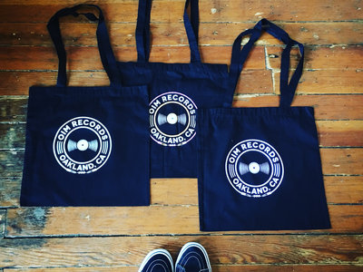 Black Tote Bag with OIM Records Logo main photo