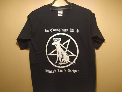 """IN CONSPIRACY WITH SANTA'S LITTLE HELPER"" shirt main photo"