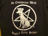 """IN CONSPIRACY WITH SANTA'S LITTLE HELPER"" shirt photo"