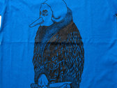 """Bird"" T-shirt - Blue photo"