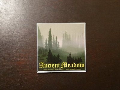 "Ancient Meadow Records 3"" x 3"" Sticker main photo"