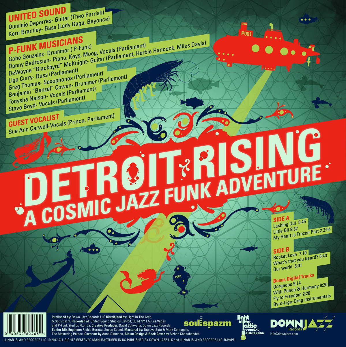 Detroit Rising: A Cosmic Jazz Funk Adventure -Dance remixes