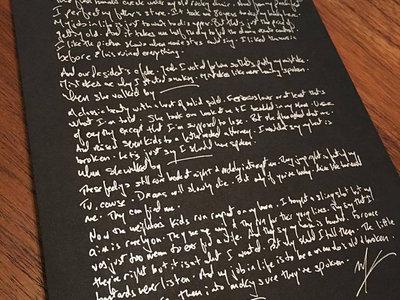 Handmade Lyric Print (Full Song) main photo
