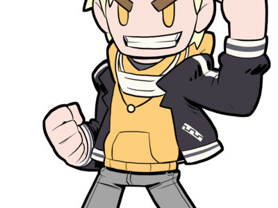 Rubber Strap Character Keychain (Gacha Style)*** main photo