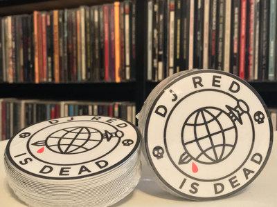 """DJ Red Is Dead"" Sticker main photo"