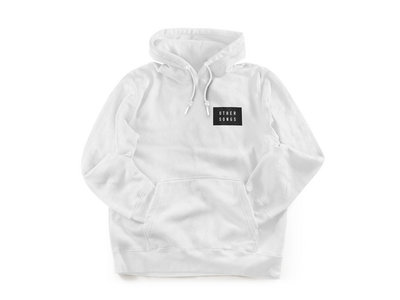 "White ""Record Label"" Hoodie main photo"