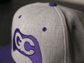 GameChops Snapback Hat ~ Purple / Heathered Gray photo
