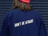 Don't Be Afraid T-Shirt - Blue / Black photo