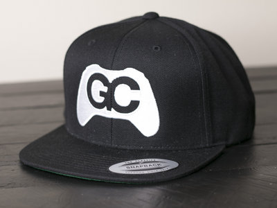 GameChops Snapback Hat ~ Black / White Logo main photo