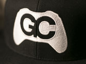 GameChops Snapback Hat ~ Black / White Logo photo