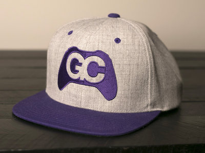GameChops Snapback Hat ~ Purple / Heathered Gray main photo