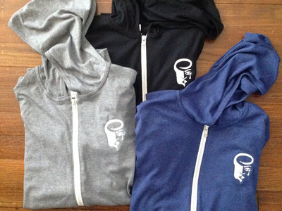 **10% markdown - Lightweight ZipUp Hoodies with Embroidered Logo main photo