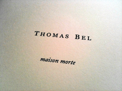 Maison morte - Poetry book main photo