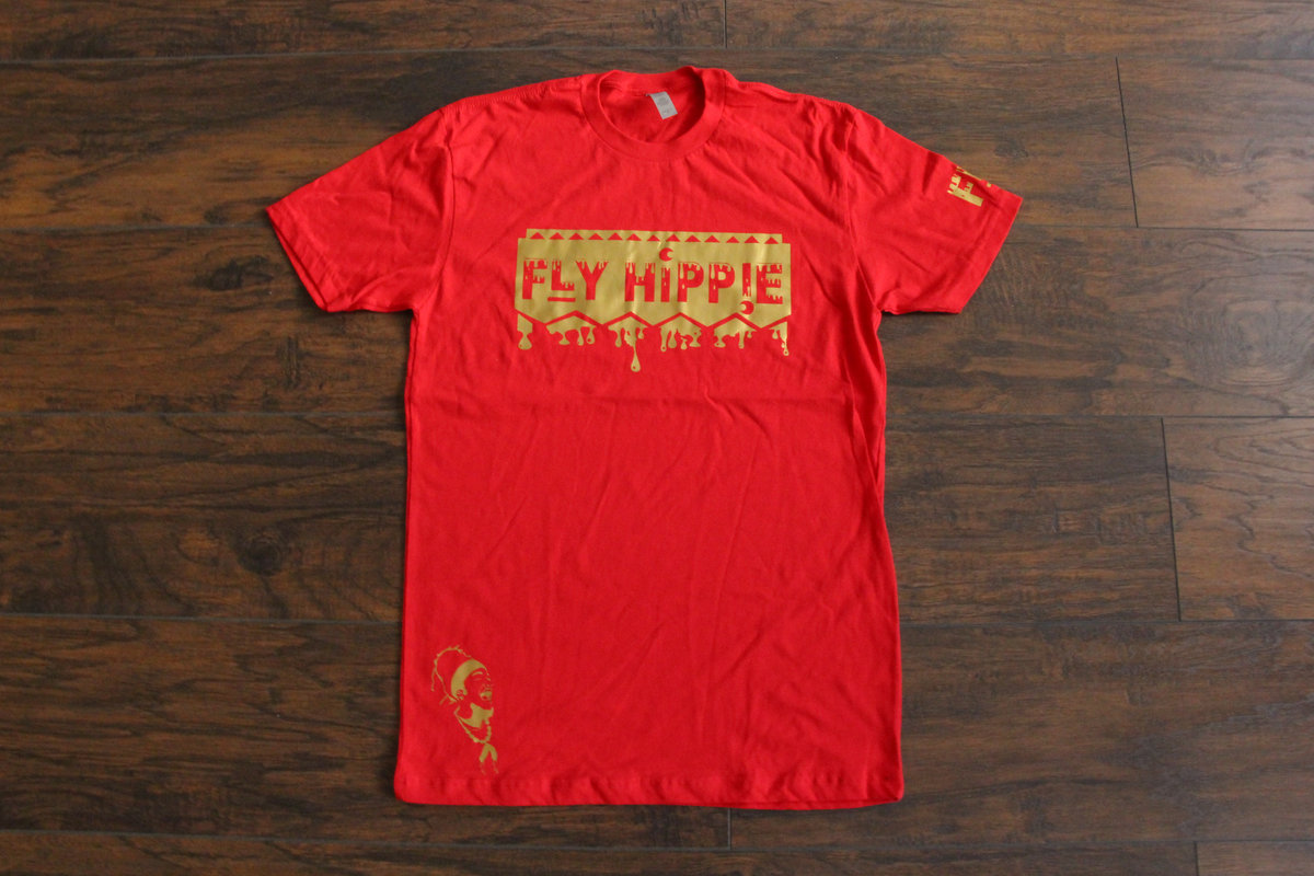 Red X Gold Fly Hippie T Shirt Fly Hippie