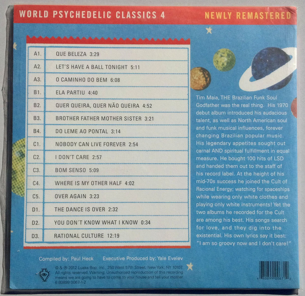 World Psychedelic Classics 4 Nobody Can Live Forever