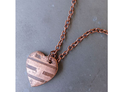 BEATING HEART - COPPER PENDANT main photo