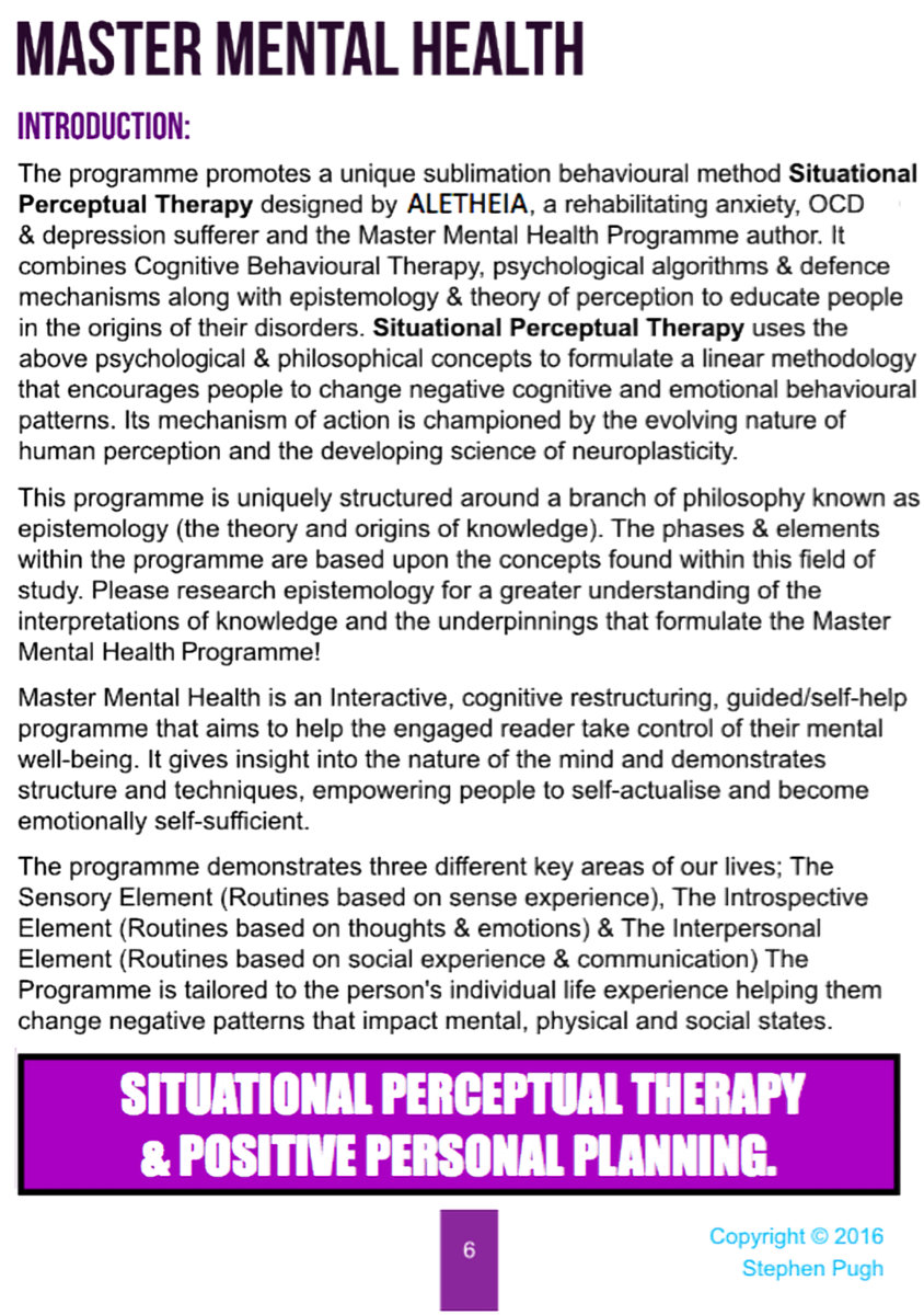 Master Mental Health Programme Self Help Ebook Download Free Or