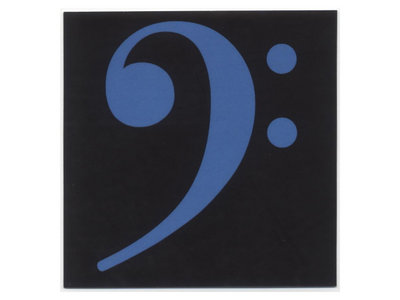 Bass clef stickers - blue (set of 6) main photo