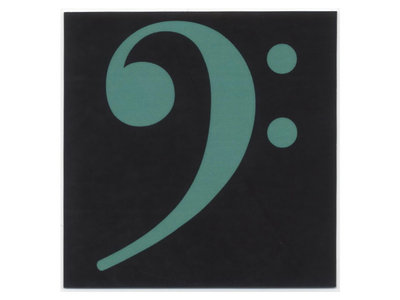 Bass clef stickers - green (set of 6) main photo