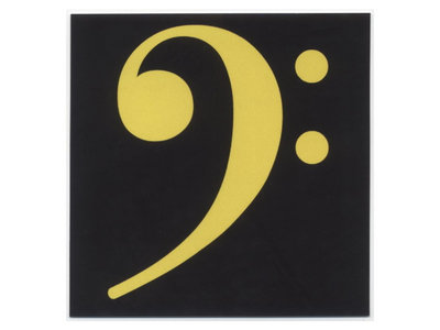 Bass clef stickers - yellow (set of 6) main photo
