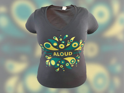 Eruption design - Ladies V-Neck (Gray) main photo