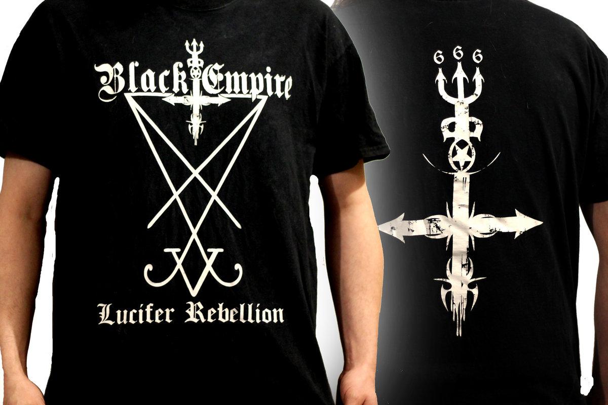 Lucifer rebellion design t shirt from black empire
