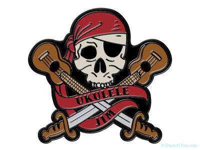 Ukulele Pirate Enamel Pin + Digital Download main photo