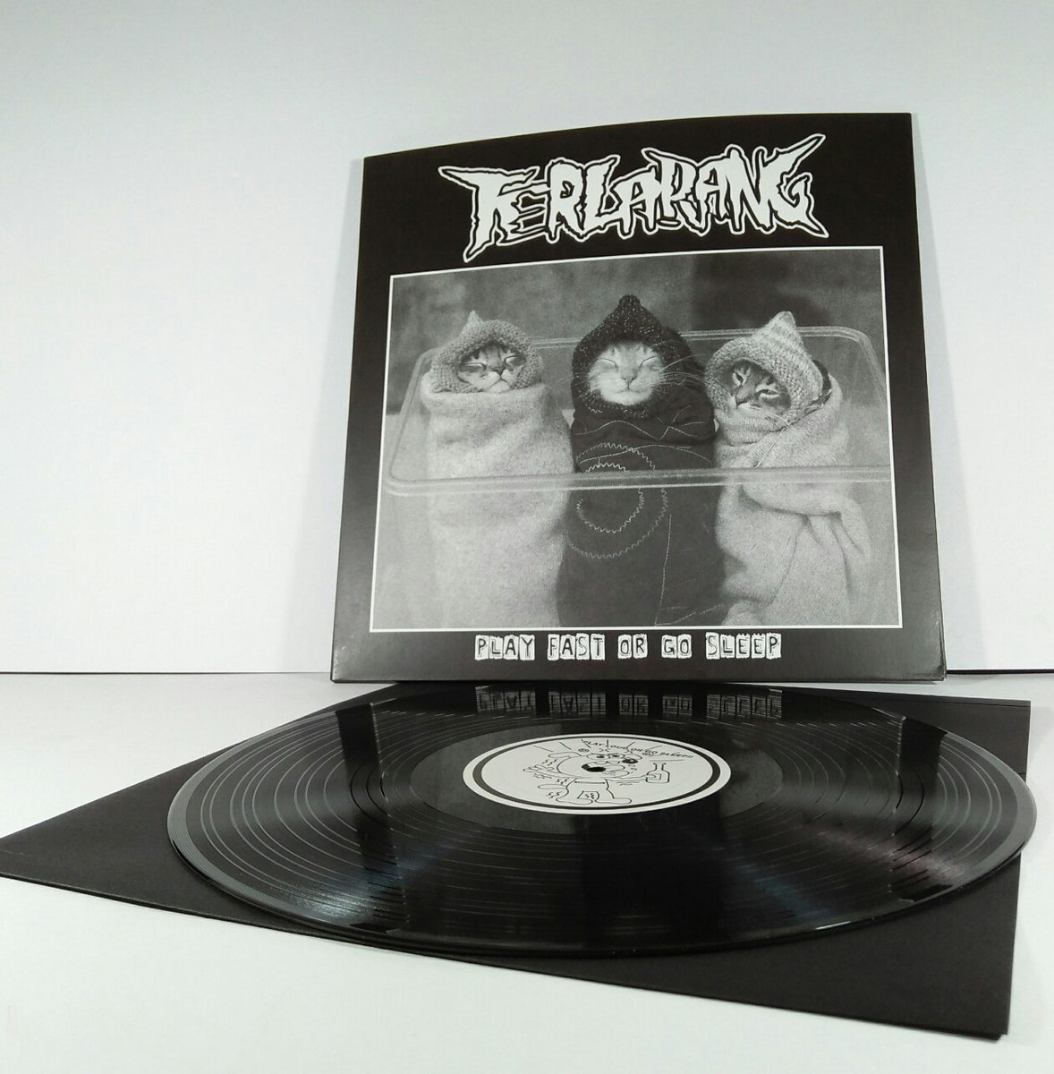 "split 12"" lp with fuck on the beach 