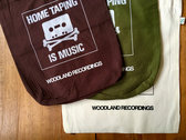 HOME TAPING IS MUSIC 100% organic cotton screen printed bag photo