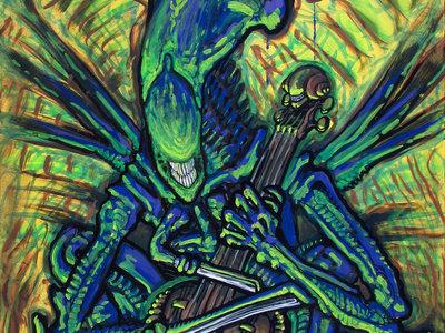 Queen of Swords (Alien Queen Playing Cello) main photo