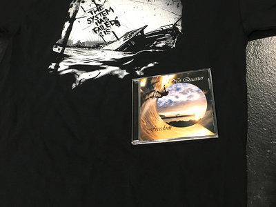 Black Sinking Ship Tee Freedom Cd Copy Pack No Quarter