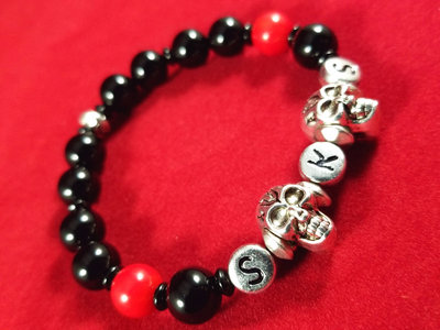 SKS Bracelet - Onyx & Red Coral main photo