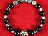 SKS Bracelet - Obsidian & Fire Agate photo