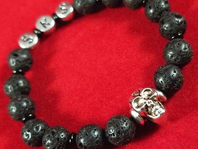 SKS Bracelet - Lava Stone & Onyx main photo