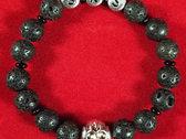 SKS Bracelet - Lava Stone & Onyx photo
