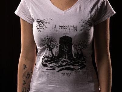 """V-Neck T-Shirt """"Femmel Fatale"""" Girlie White main photo"""