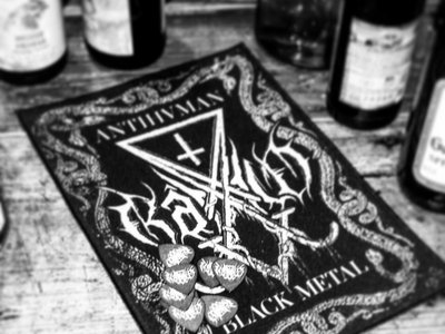 ANTIHVMAN BLACK METAL Backpatch main photo