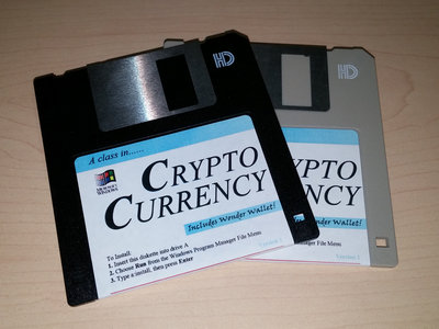 """猫 シ Corp. - 'A class in...' CRYPTO CURRENCY - 3.5"""" Floppy Disk main photo"""