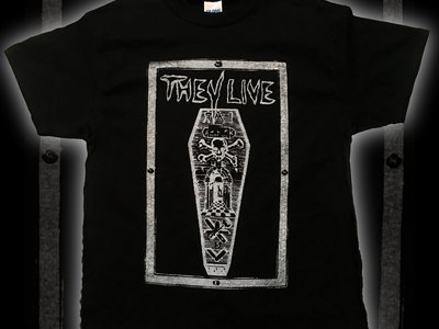 THEY LIVE coffin t-shirt main photo