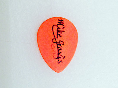 Orange Teardrop Guitar Pick (set of 2) main photo