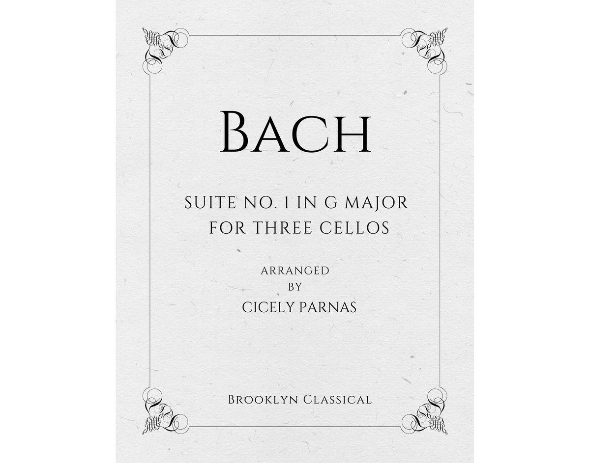 Bach Cello Suite No 1 Arranged For Three Cellos Digital
