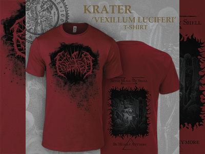 """T-Shirt Dark Red """"Vexillum Luciferi"""" main photo"""