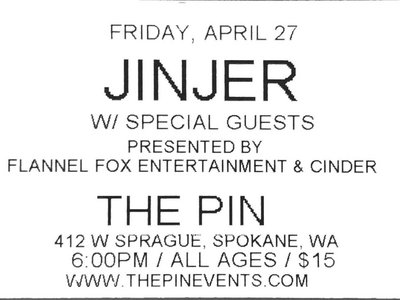 Ticket to Show @ The Pin - Friday, April 27th main photo