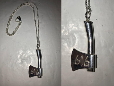 Sterling Silver 616 Axe Pendant (W/ CHAIN) (RE-UP IN ONE MONTH) main photo