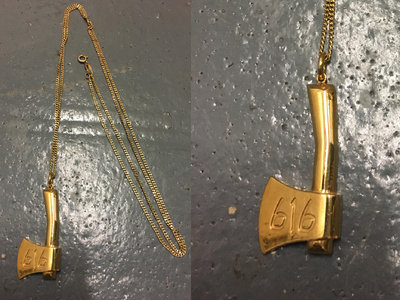 9ct Solid Gold 616 Axe Pendant (W/ CHAIN) (RE-UP IN ONE MONTH) main photo