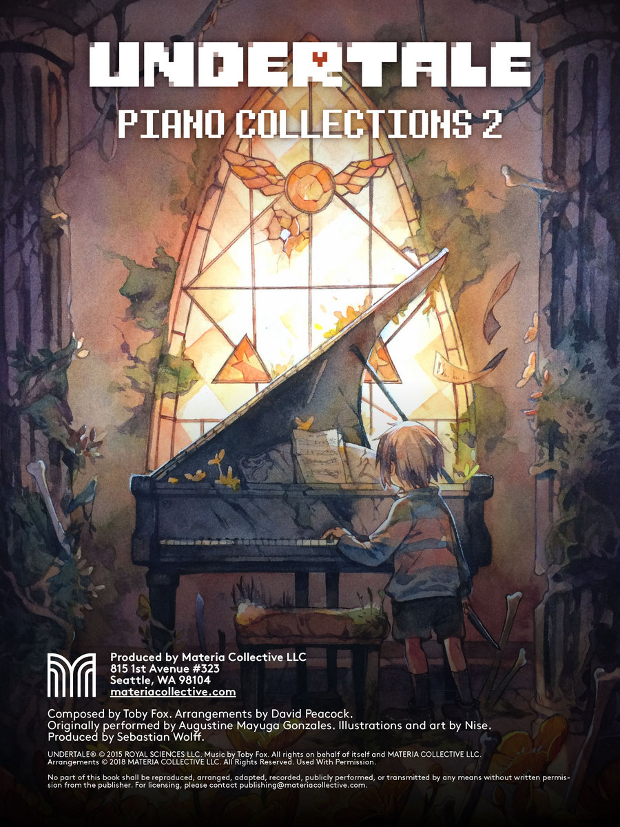 Undertale Piano Collections 2 Physical Sheet Music Materia